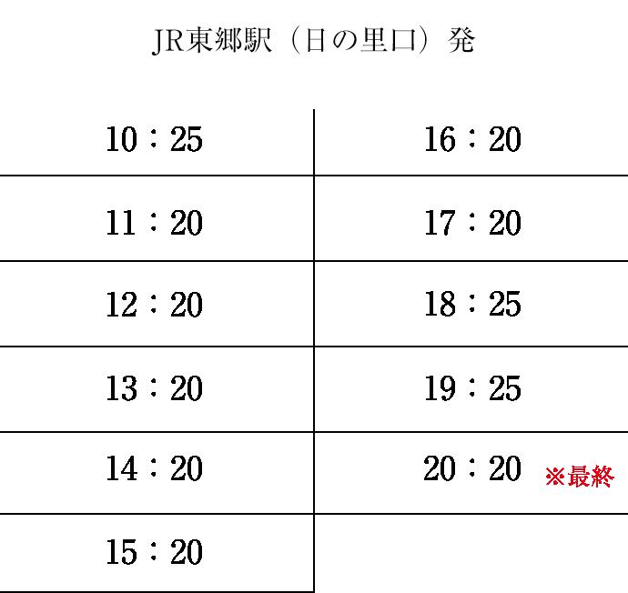 JR東郷駅(日の里口)発