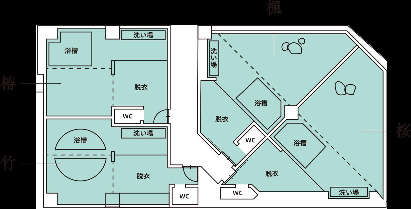 家族風呂(部屋配置マップ)