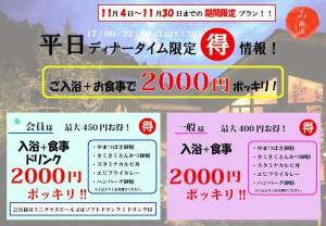 2000ぽっきりプラン【A4】