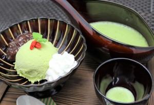 抹茶アイスのアフォガード