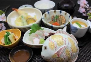 春の鯛料理膳