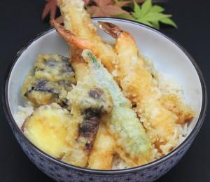 海老と活け穴子の天丼 - コピー