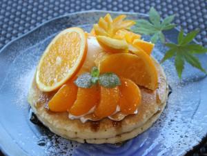 オレンジとみかんのパンケーキ