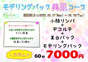 モデリングパック美肌キャンペーン【A4】