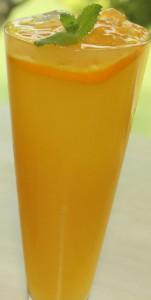 もも酢のオレンジジュース割り