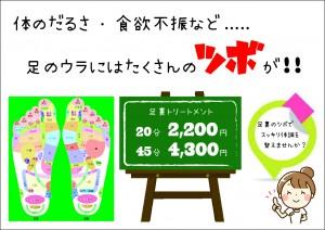 足裏トリートメント【A4】
