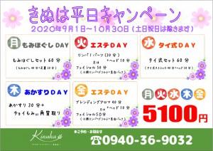 きぬは平日キャンペーン202009-10【A4】