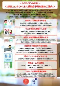 コロナウイルス対策について【飲食】