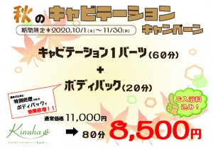 秋のキャビテーションキャンペーン【A4】11月