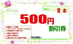 アニバーサルプラン【次回使える500円割引券】_見本